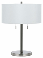 Cal BO-2450TB-BS Calais Brushed Steel Finish Drum Shade 23 Inch Tall Table Lighting
