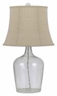 Cal BO-2455TB Transitional Style 26 Inch Tall Bubbled Glass Lamp Lighting
