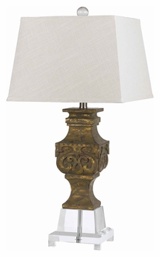 Cal BO-2470TB Pierson Antique Gold Finish Transitional Living Room Table Lamp
