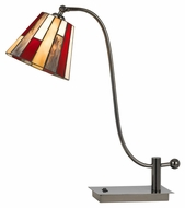 Cal BO-2471TB Tiffany 25  Gun Metal Finish Lighting Table Lamp