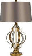 Cal BO-2601TB Passe Mirror / French Gold Table Light