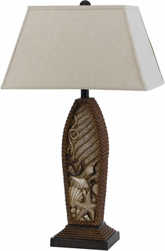 Cal BO-2611TB Pompano Nautical Distressed Rope Table Lamp Lighting