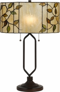 Cal BO-2674TB Tiffany Matt Black Lighting Table Lamp
