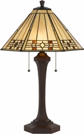 Cal BO-2676TB Tiffany Matt Black Table Top Lamp