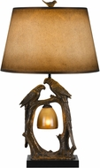 Cal BO-2725TB Nature Themed Country Antique Bronze LED Table Top Lamp