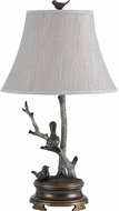 Cal BO-2726TB Nature Themed Rustic Antique Bronze Side Table Lamp