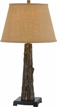 Cal BO-2730TB Tree Trunk Rustic Antique Bronze Lighting Table Lamp