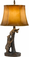 Cal BO-2731TB Bear Country Antique Bronze Table Lamp Lighting