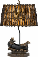 Cal BO-2732TB Bear Rustic Antique Bronze Table Top Lamp