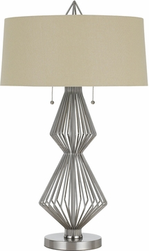 Cal BO-2741TB Terni Modern Brushed Steel Lighting Table Lamp