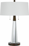 Cal BO-2743TB Caserta Mirror / Black Table Top Lamp