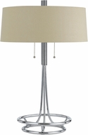 Cal BO-2744TB Lecce Contemporary Chrome Side Table Lamp