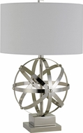 Cal BO-2785TB Vittoria Contemporary Brushed Steel Lighting Table Lamp