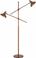 Cal BO-2794FL-RU Canterbury Modern Rust Floor Lamp Light