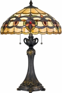 Cal BO-2800TB Tiffany Tiffany Tiffany Table Top Lamp