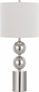 Cal BO-2803TB Lucena Contemporary Brushed Steel Table Lamp