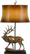 Cal BO-2807TB Lodge Country Antique Bronze Table Lamp Lighting