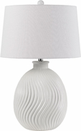 Cal BO-2815TB Olbia Milky White Table Lamp Lighting
