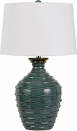 Cal BO-2816TB Oristano Teal Table Top Lamp