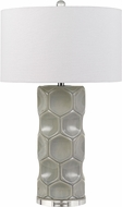 Cal BO-2817TB Melfi Gray Side Table Lamp