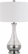 Cal BO-2818TB-2 Potenza Contemporary Glass / Brushed Steel Table Lamp (Set of 2)