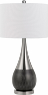 Cal BO-2820TB-2 Sorrento Contemporary Brushed Steel Table Lighting (Set of 2)