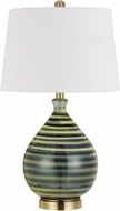 Cal BO-2824TB-2 Arpino Crackle Side Table Lamp (Set of 2)