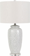 Cal BO-2828TB Corato Pearl White Lighting Table Lamp