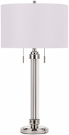 Cal BO-2829TB Montilla Contemporary Brushed Steel Table Lamp Lighting