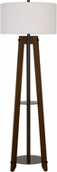 Cal BO-2833FL Bilzen Walnut Floor Lamp Light