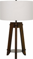 Cal BO-2833TB Bilzen Walnut Table Lamp