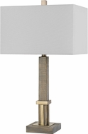 Cal BO-2836TB Tineo Wood/Antique Brass Table Lamp