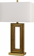 Cal BO-2837TB Couvin Antique Brass / Wood Table Lighting