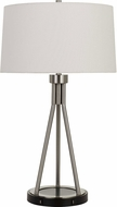 Cal BO-2838TB Halle Brushed Steel Lighting Table Lamp