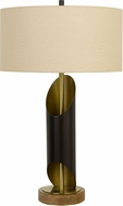 Cal BO-2839TB Lommel Black / Antique Brass Table Lamp Lighting