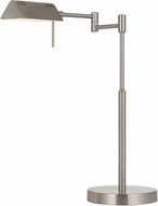 Cal BO-2844DK-BS Clemson Modern Brushed Steel LED Reading Lamp
