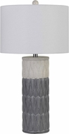 Cal BO-2847TB-2 Voula Grey Side Table Lamp