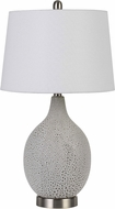 Cal BO-2850TB-2 Edessa Fossil White Table Lighting