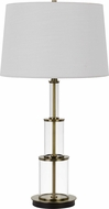 Cal BO-2853TB Brest Antique Brass Table Top Lamp