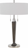 Cal BO-2855TB Drancy Chrome / expresso Side Table Lamp