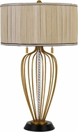 Cal BO-2859TB LaVal Contemporary Antique Brass / Black Table Lighting