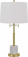 Cal BO-2863TB Lille Antique Brass Table Light