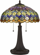 Cal BO-2901TB Tiffany Dark Bronze Table Light