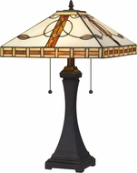 Cal BO-2903TB Tiffany Dark Bronze Lighting Table Lamp