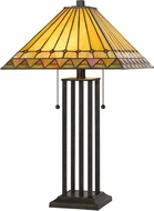 Cal BO-2904TB Tiffany Dark Bronze Table Lamp Lighting