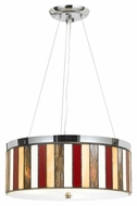 Cal FX-1089/1P Miramar Chrome Finish Transitional Pendant Light