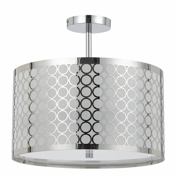 Cal FX-2293-1C Madrid Modern Chrome Ceiling Lighting