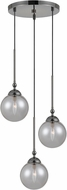 Cal FX-2577-3P Prato Modern Gun Metal Multi Pendant Light