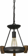 Cal FX-3517-1 Cruz Bronze / Wood Lighting Pendant