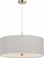 Cal FX-3524-3P Nianda Off White Drum Hanging Lamp